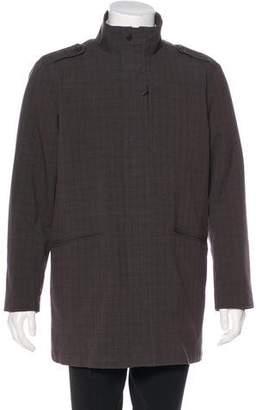 Tumi Patterned Layered Overcoat