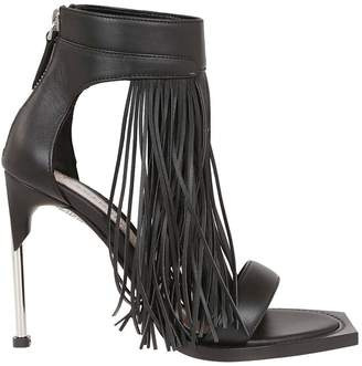 Alexander McQueen Fringed Detail Sandals