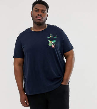 Burton Menswear Big & Tall t-shirt with toucan print in navy