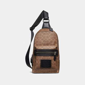 74d264cd4877 Showing 11 Messenger Bags For Men filtered to 1 brand. at Coach · Coach  Academy Pack In Signature Canvas