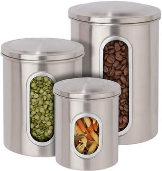 Honey-Can-Do 3-Pc. White Food Storage Canisters