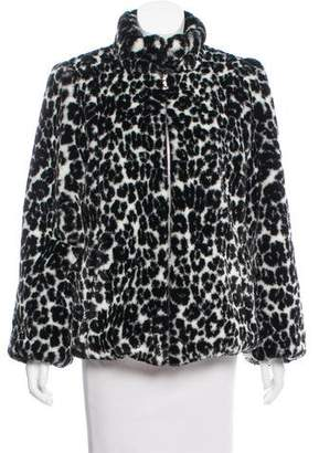 Marc Jacobs Leopard Printed Faux Fur Jacket w/ Tags