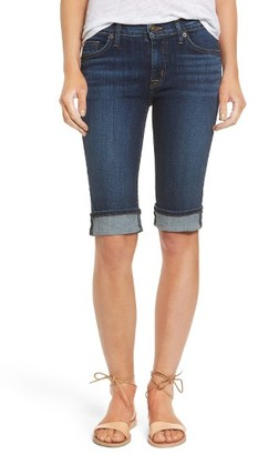 Women's Hudson Jeans Amelia Rolled Knee Shorts $135 thestylecure.com
