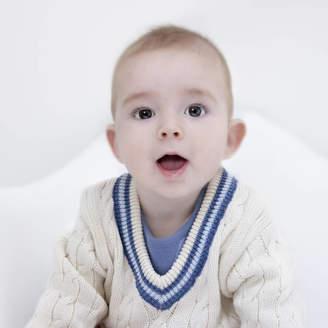 Toffee Moon Baby Boy Cream Cricket Jumper