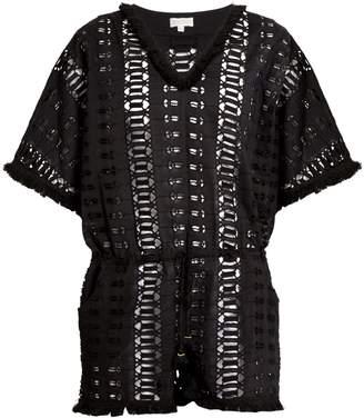 BIONDI Ayara embroidered-cotton playsuit
