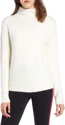 Halogen Fuzzy Mock Neck Sweater