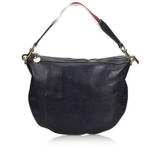 Gucci Vintage Leather Web Strap Handbag