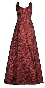 Aidan Mattox Women's Sleeveless Jacquard A-Line Gown - Size 0