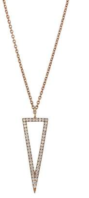 Bony Levy 18K Rose Gold Diamond Triangle Pendant Necklace - 0.19 ctw