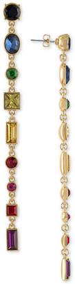 Rachel Roy Gold-Tone Crystal Linear Drop Earrings