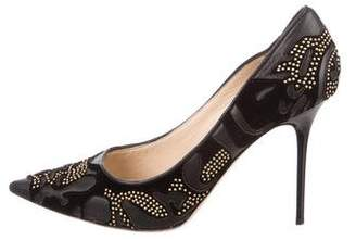 Jimmy Choo Studded Pointed-Toe Pumps
