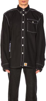 VETEMENTS x Carhartt Workwear Shirt $1,085 thestylecure.com