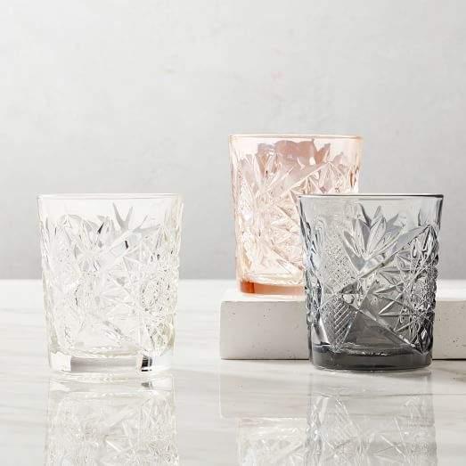 Decorated Hobstar Glassware Set