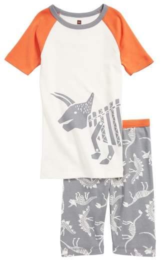 Dino Bones Fitted Two-Piece Pajamas