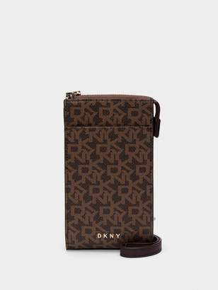 DKNY Town & Country Logo Pvc Phone Crossbody