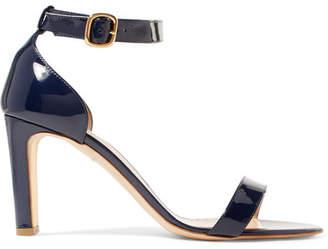 Rupert Sanderson Barri Patent-leather Sandals - Navy