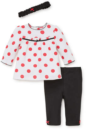 Little Me Baby Girls Polka Dot Tunic Set with Headband