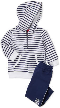 Tommy Hilfiger Infant Boys) Two-Piece Striped Hoodie & Jogger Set