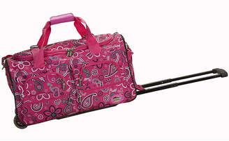 Rockland 22 Rolling Duffel Bag-Print