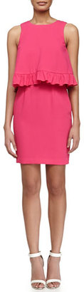 Trina Turk Kayleen Ruffled Combo Dress, Vivid Pink $288 thestylecure.com