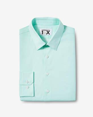 Express Extra Slim Easy Care Micro Dot 1Mx Dress Shirt