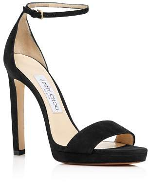 Jimmy Choo Women's Misty 120 Suede High-Heel Platform Sandals