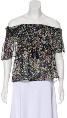 Rebecca Minkoff Off-Shoulder Overlay Top w/ Tags