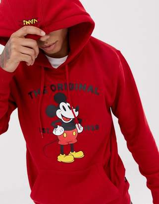 Vans x Mickey Mouse hoodie in red VN0A3IKD14A1
