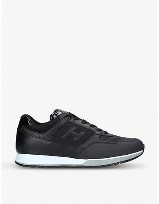 Hogan 321 leather and mesh low-top trainers