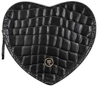 Maxwell Scott Bags Croc Print Leather Heart Shaped Handbag Organiser