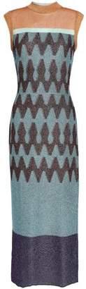 Missoni Paneled Bouclé And Jacquard-Knit Midi Dress