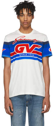Givenchy White GV World Tour Jersey T-Shirt