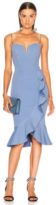 Nicholas Bandage Frill Wrap Dress