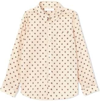 Burberry star print button-up shirt