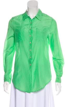 Calypso Long Sleeve Button-Up Blouse