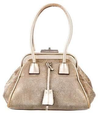 Prada Metallic Karung Evening Bag