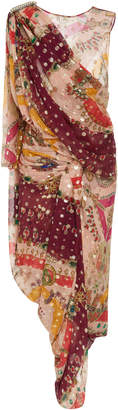 Etro Paisley Sari Silk-Blend Dress