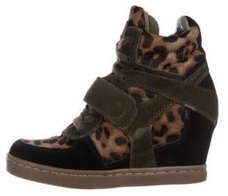 Ash Ponyhair Wedge Sneakers
