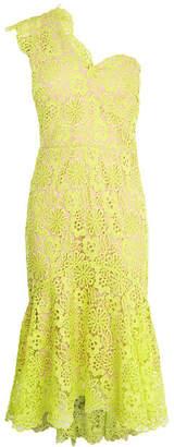 Karen Millen One-Shoulder Lace Midi Dress