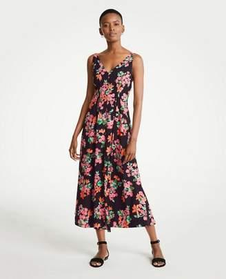 Ann Taylor Capri Garden V-Neck Maxi Dress