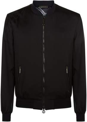 Stefano Ricci Embroidered SilkBomber Jacket