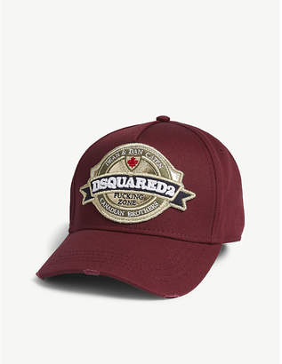 DSQUARED2 Round badge cotton cap