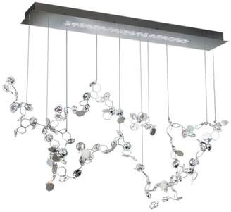 Swarovski 46x33in 3-Light Contemporary Pendant by in Stainless Steel