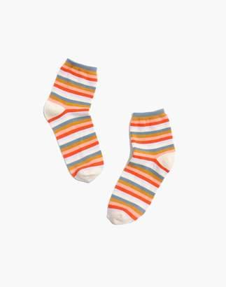 Madewell Carousel Stripe Ankle Socks