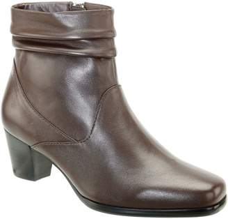 David Tate Leather Ankle Boots - Shadow