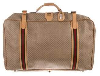 Gucci Vintage GG Plus Web Suitcase