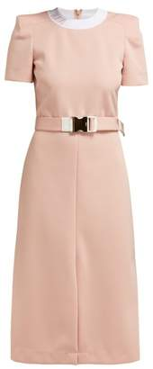Fendi Logo Jacquard Midi Dress - Womens - Light Pink