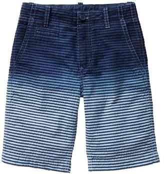 Gap Dip-dye seersucker flat front shorts