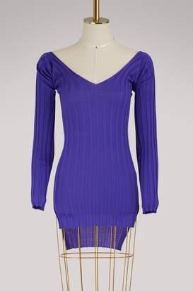 Celine V-neck merino wool sweater