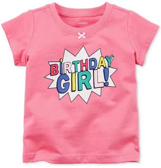 Carter's Birthday Girl Cotton T-Shirt, Baby Girls